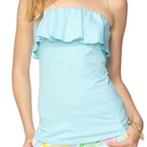 Lilly Pulitzer strapless ruffle top